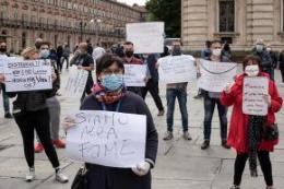 Negozianti in protesta