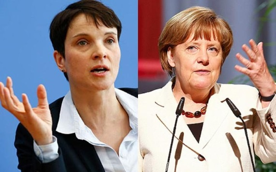 Frauke Petry e Angela Merkel
